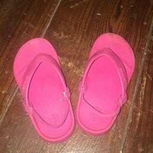 Little Girl's Sz 9 Crocs Flip Flops
